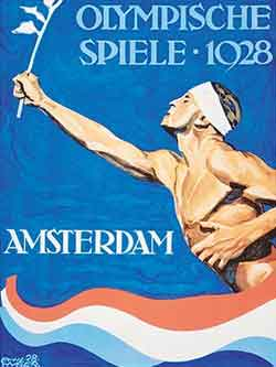 1928 Amsterdam Olympics Poster